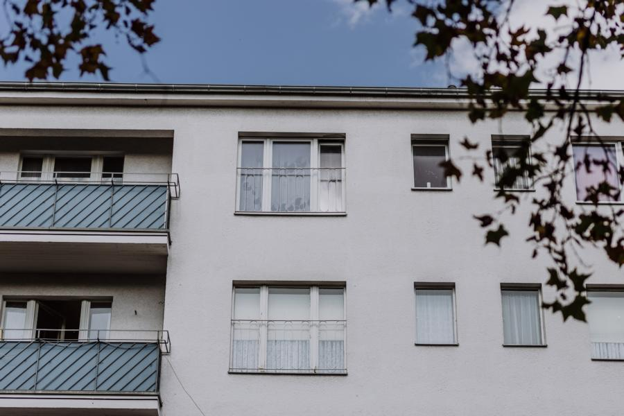Fassade der Immobilien in Moabit