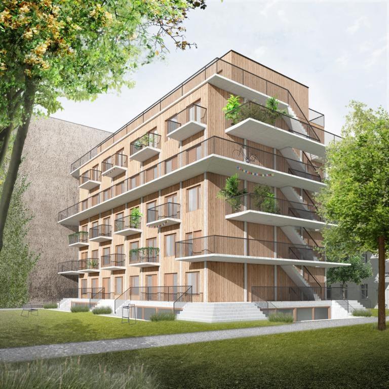 Visualisierung Gartenhaus des Projektes in Berlin Moabit