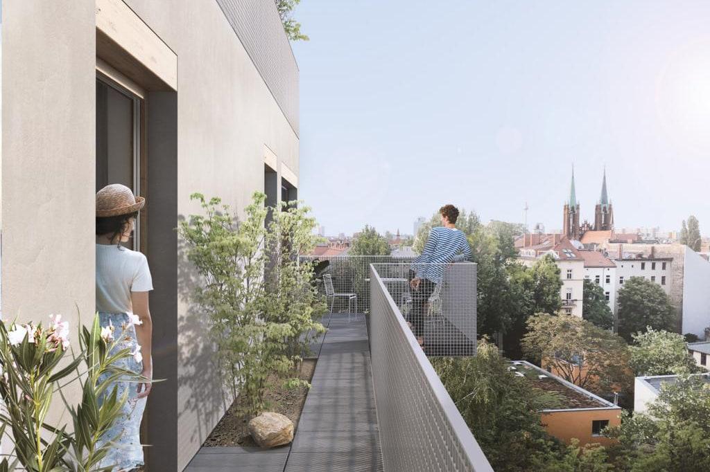 Dachterrasse des Seitenflügels des Projektes XBerg13