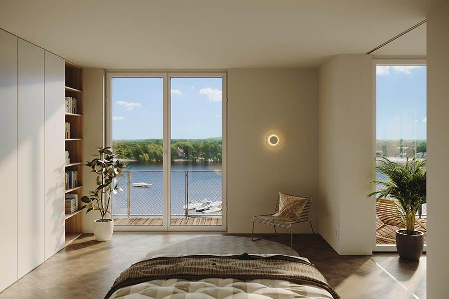 Wasserblick aus dem Schlafzimmer von DAHME5
