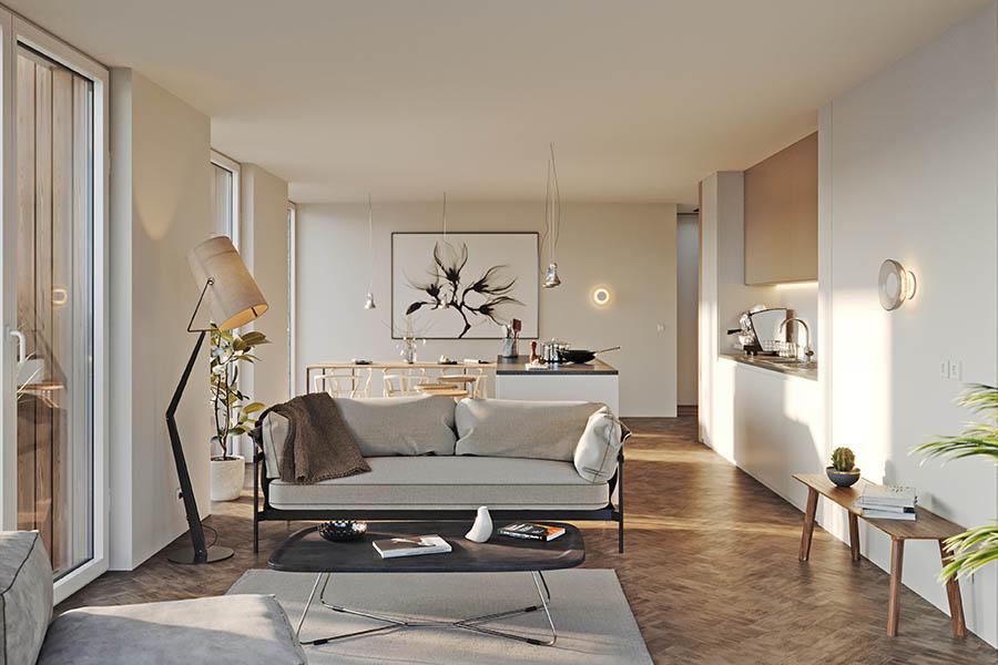 Wohnzimmer in der Immobilie DAHME5